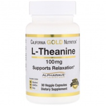 Аминокислота California Gold Nutrition L-Theanine 30 капсул 100 мг